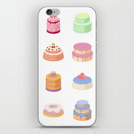 Birthday Cakes iPhone Skin