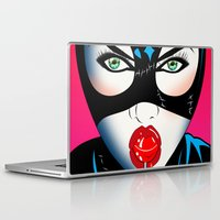 catwoman Laptop & iPad Skins featuring Catwoman by mark ashkenazi