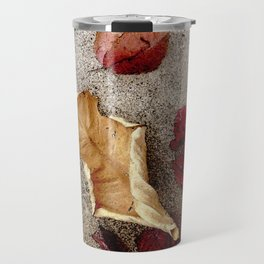 Wine n' Ochre Leaf Travel Mug