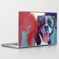 pitbull Laptop & iPad Skins featuring Emma - Pitbull Pop Art by Corina St. Martin Art