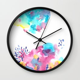 180802 Beautiful Rejection  11 | Colorful Abstract Wall Clock