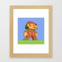 Mario NES nostalgia Framed Art Print