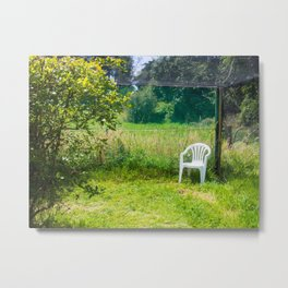 Take Your Place On The White Seat Metal Print