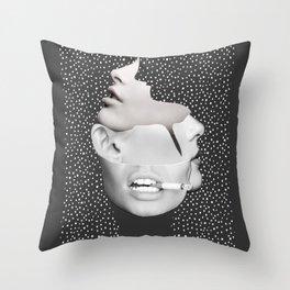 collage art / Faces 2 Throw Pillow
