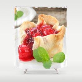 Cherry Tarts II Shower Curtain