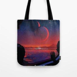 NASA Retro Space Travel Poster #13 - TRAPPIST-1e Tote Bag
