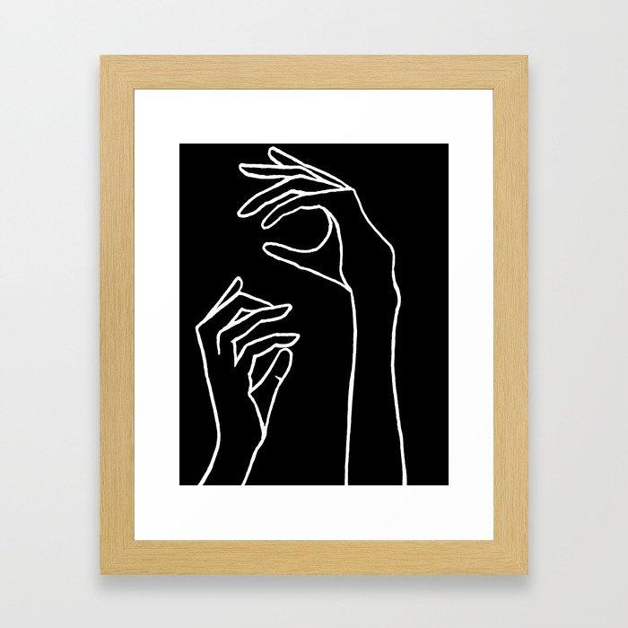 Grasp Framed Art Print