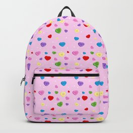 Funny Pink Valentines Heart Backpack