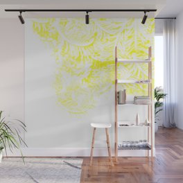 Feather star print Wall Mural