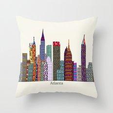 Atlanta city  Throw Pillow