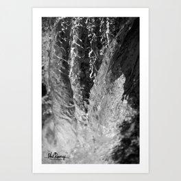 Waterfall Snapshot Art Print