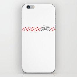 Polkadot Jersey Climbing Champ Bike Race Cycling Silver iPhone Skin