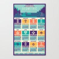 calendar Canvas Prints featuring Calendar / 2015 by Adline / Szende Brassai
