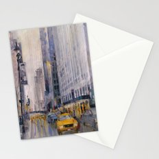 Hey Taxi - New York City Midtown Rain  Watercolors Stationery Cards