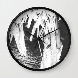 Orang Asli girl Wall Clock
