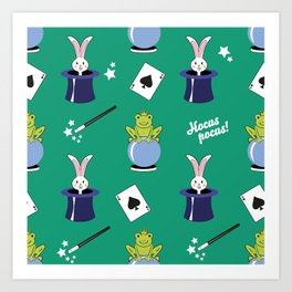 Hocus pocus - green Art Print