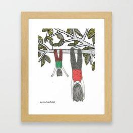 Balancê Reverso Framed Art Print