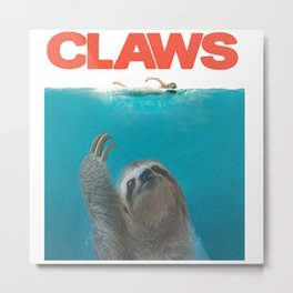 paws jaws parody Metal Print