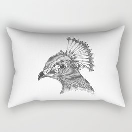 A peacock head Rectangular Pillow