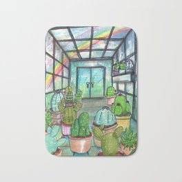 cactus are awesome Bath Mat