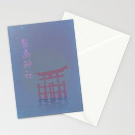 Midnight in Japan Stationery Cards