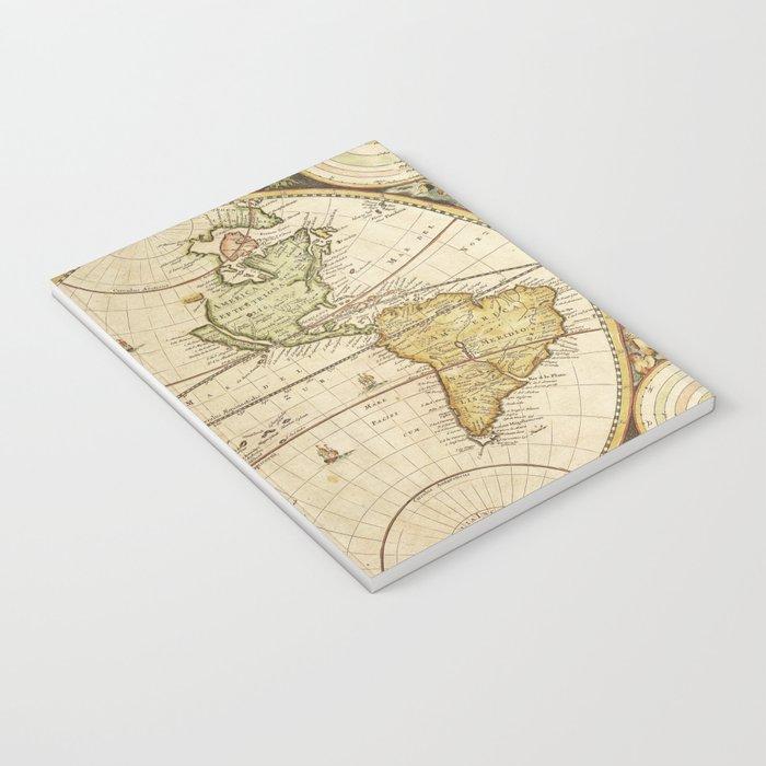 Book Traveler Vintage Map v2 Notebook