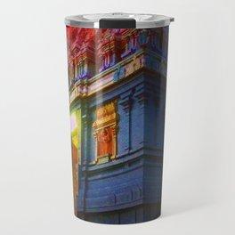 Temple at Night Travel Mug