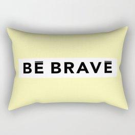 BE BRAVE WinterWonderland collection yellow Rectangular Pillow
