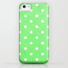 Polka Party Lime iPhone 5c Slim Case