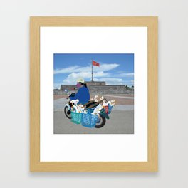 Transporting geese in Vietnam Framed Art Print