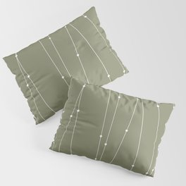 Contemporary Intersecting Vertical Lines in Sage Green Pillow Sham