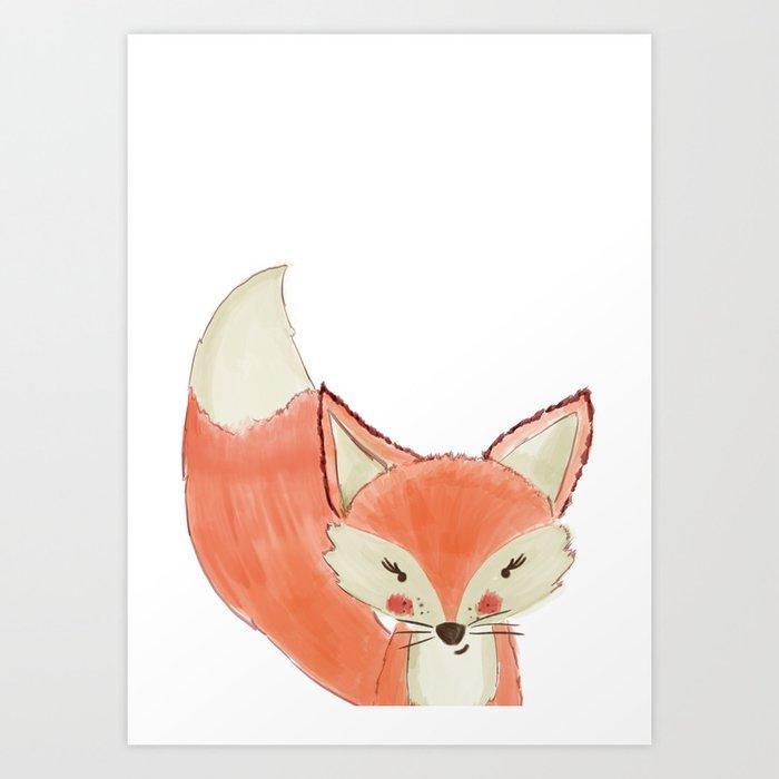 Woodland Cuties || Franny Fox Art Print