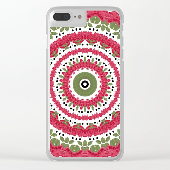 Rosy dreams. Kaleidoscope. Clear iPhone Case