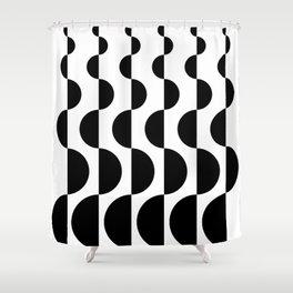 ROUND_WAVES Shower Curtain