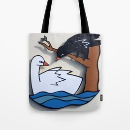 The Swan & The Raven Tote Bag