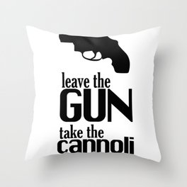 The Godfather cannoli Throw Pillow