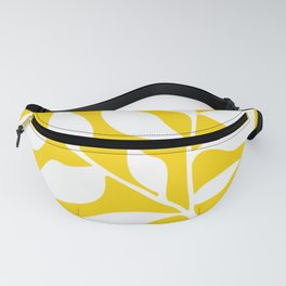 Leaf Silhouette / Yellow and White Fanny Pack