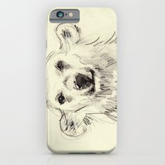 Polar Bear Smiling Black and White Slim Case iPhone 6s