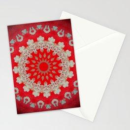Bright Red Mandala Stationery Cards