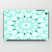 mint iPad Cases featuring Mint Mandala Explosion by SimplyChic