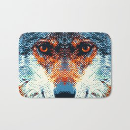 Wolf - Colorful Animals Bath Mat