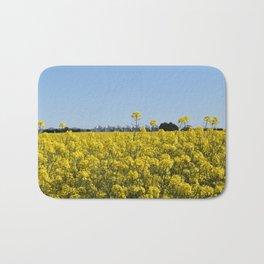 Yellow Canola Fields Bath Mat