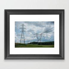 Summer Storms Framed Art Print