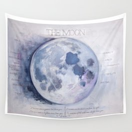 Moon Map Wall Tapestry