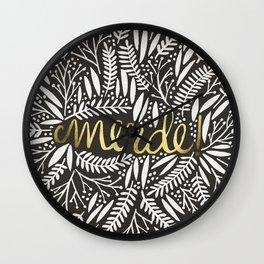 Pardon My French – Gold on Black Wall Clock