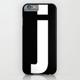letter J (White & Black) iPhone Case