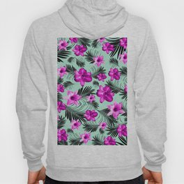 Tropical Flowers Palm Leaves Finesse #9 #tropical #decor #art #society6 Hoody