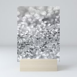 Silver Gray Lady Glitter #1 #shiny #decor #art #society6 Mini Art Print