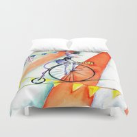 circus Duvet Covers featuring Circus by LolMalone