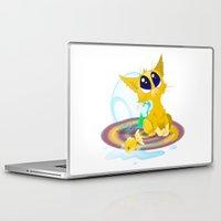kitten Laptop & iPad Skins featuring kitten by Rejdzy
